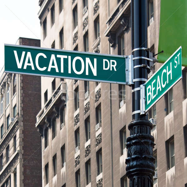 Vacation Street Corner Signs Stock photo © ArenaCreative