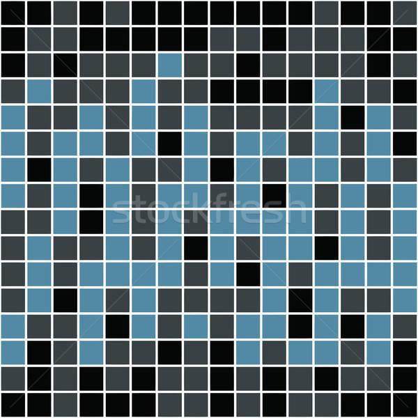 Azul padrão azulejos textura arte Foto stock © ArenaCreative