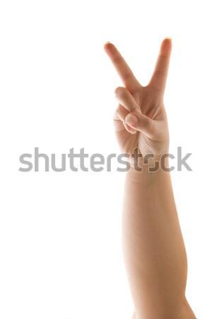 Diablo mano signo aislado Foto stock © ArenaCreative