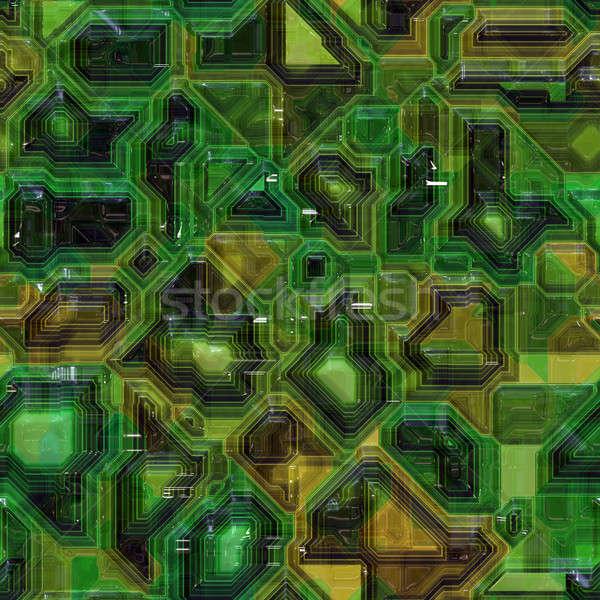 Számítógép nyáklap végtelenített minta zöld textúra Stock fotó © ArenaCreative