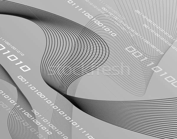 Grayscale 3D Wire Ribbons Stock photo © ArenaCreative