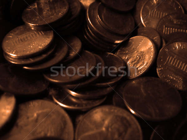 Pennies Macro Stock photo © ArenaCreative