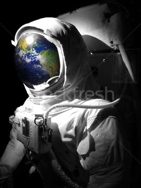 Astronauta spazio uomo suit riflessione Foto d'archivio © ArenaCreative
