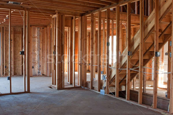 Unfinished New Construction Framing Stock photo © ArenaCreative