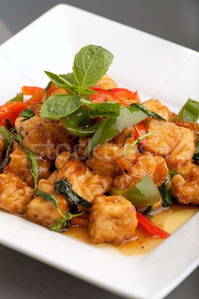 Stock photo: Thai Food Tofu Stir Fry
