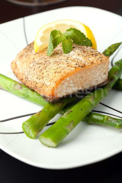 Alaskan Salmon Dinner Stock photo © ArenaCreative