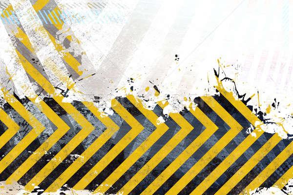 Grungy Hazard Stripes Stock photo © ArenaCreative