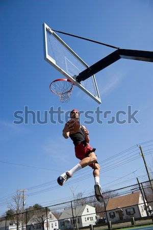 Man Dunking the Basketball Stock photo © ArenaCreative