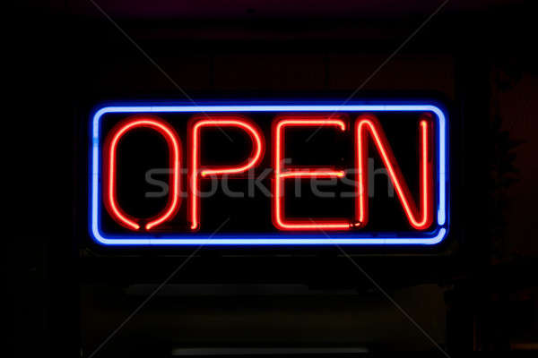 Neon OPEN Sign Stock photo © ArenaCreative