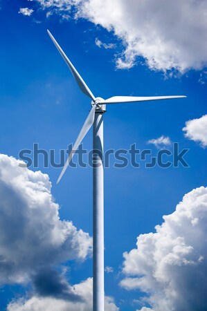 Windturbine macht generatie wolk blauwe hemel Stockfoto © ArenaCreative