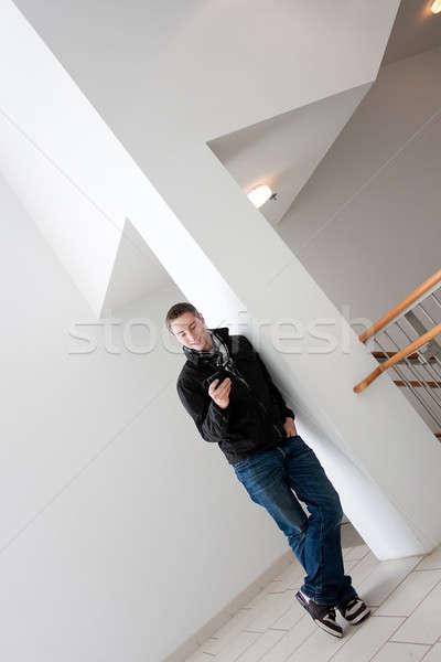 Man Checking His Cell Phone Stock photo © ArenaCreative