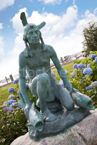 Izlemek tepe Hint eski heykel Stok fotoğraf © ArenaCreative
