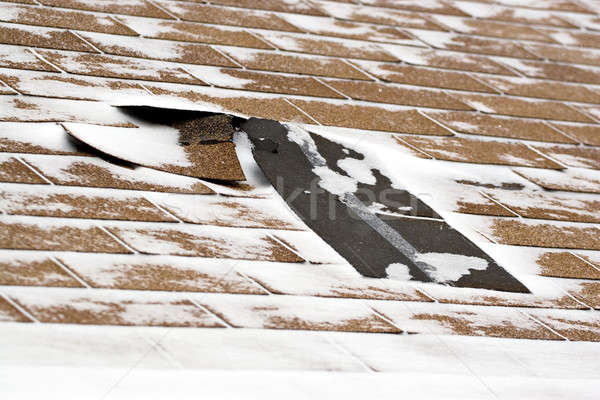 Winter Damaged Roof Shingles Stock photo © ArenaCreative