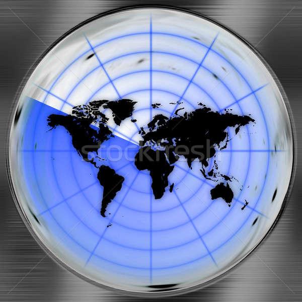 Wereld radar scherm kan gebruikt variëteit Stockfoto © ArenaCreative