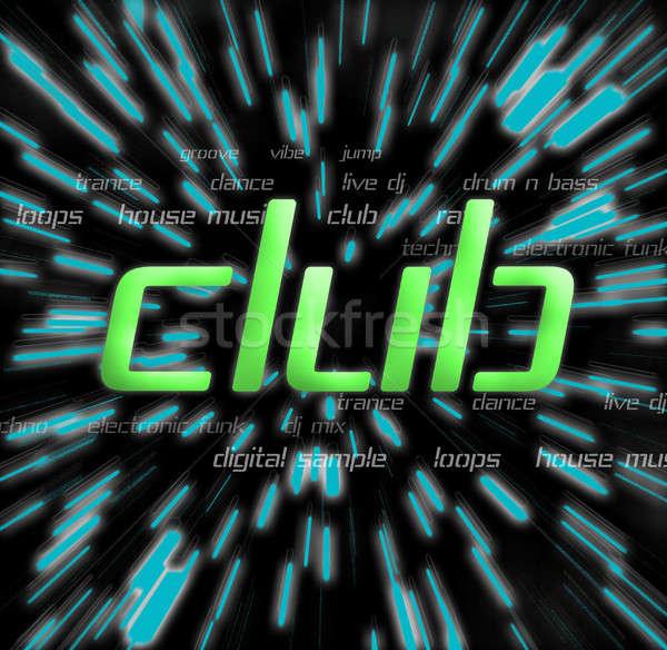 Geen beschrijving muziek mannen nacht club Stockfoto © ArenaCreative