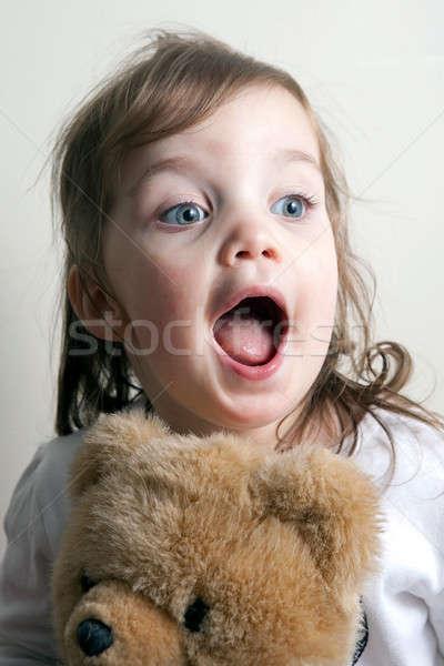 Girl with Her Teddy Bear Stock photo © ArenaCreative