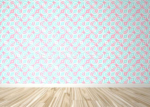 üres szoba belső háttér fa parketta barokk Stock fotó © ArenaCreative