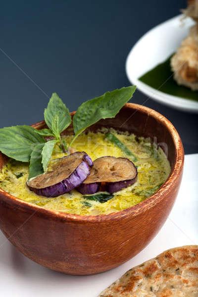 泰國 綠色 咖哩 菜 新鮮 湯 商業照片 © arenacreative