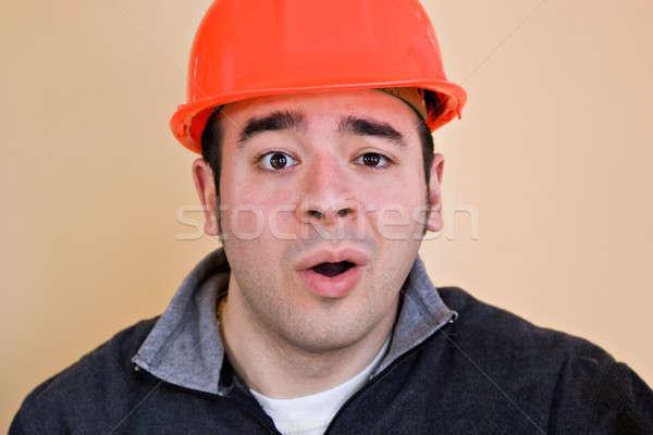 Olhando construção trabalhar casa gerente Foto stock © ArenaCreative