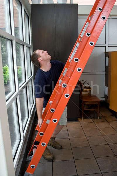 Setting Up a Ladder Stock photo © ArenaCreative