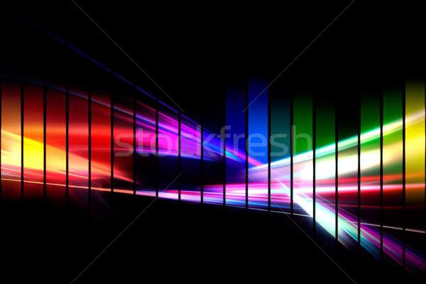 ストックフォト: グラフィック · オーディオ · 抽象的な · イラスト · 虹