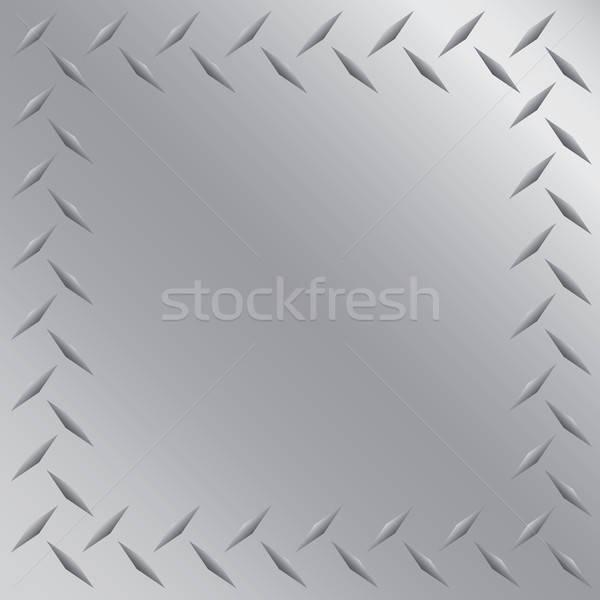 Diamond Plate Frame Vector Stock photo © ArenaCreative