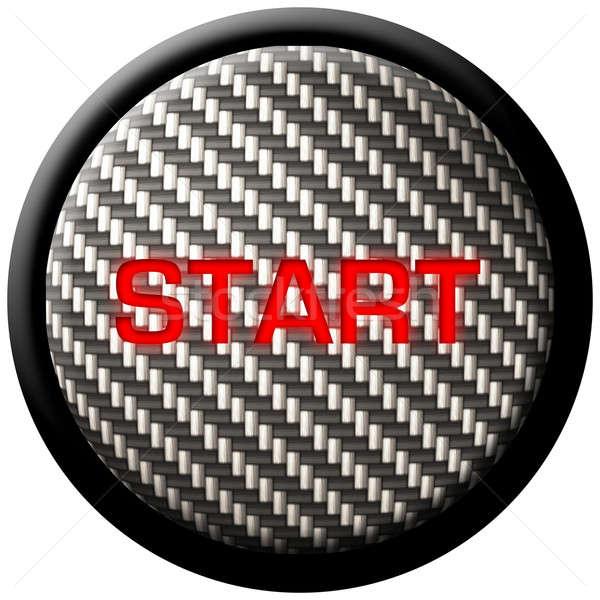 Carbon Fiber Start Button Stock photo © ArenaCreative