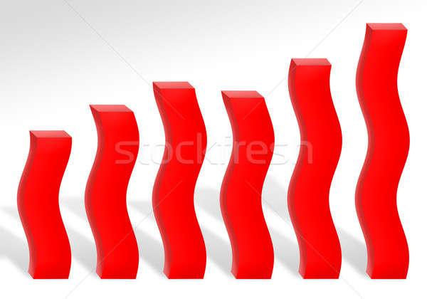 Zdjęcia stock: Zysk · wykres · 3D · wzrostu
