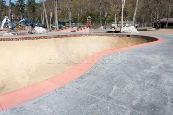 Skate parque tazón detalle vacío Foto stock © ArenaCreative
