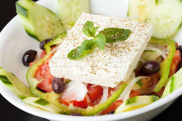 Сыр из козьего молока Салат Средиземное море стиль греческий саду Сток-фото © ArenaCreative