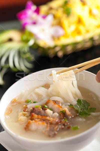 Stok fotoğraf: Taylandlı · çorba · domuz · eti · kişi · yeme
