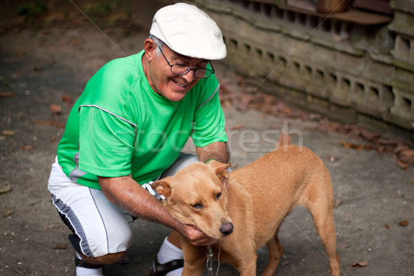 Old Man and His Dog Stock photo © ArenaCreative