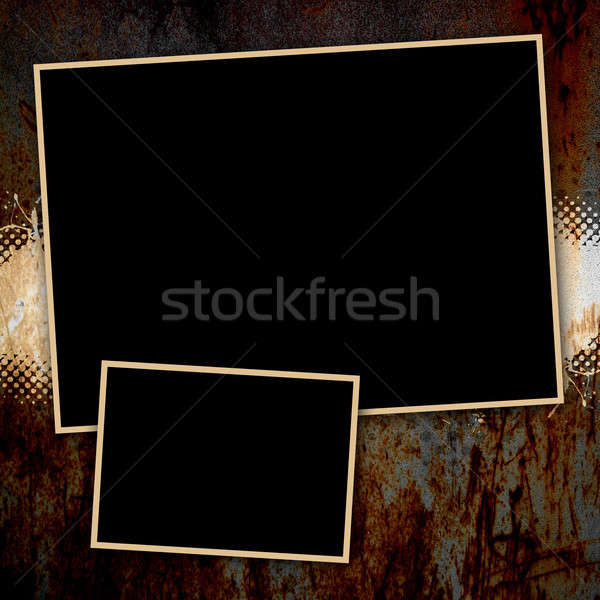 Grungy Rusted Page Template Stock photo © ArenaCreative