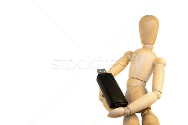 Usb flash drive model flash przechowywania Zdjęcia stock © ArenaCreative