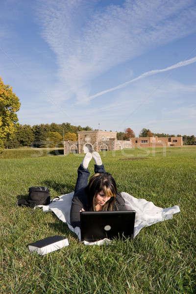 Girl with Laptop Stock photo © ArenaCreative