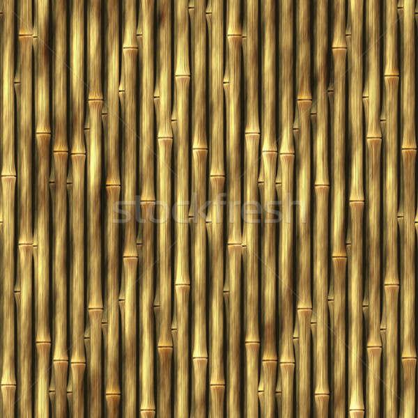 Stock photo: Bamboo Wall Background