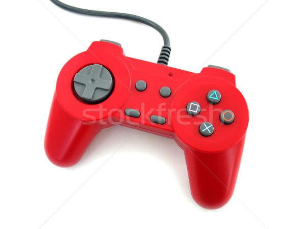 красный геймпад видеоигра изолированный белый Сток-фото © ArenaCreative