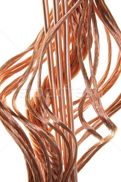 Rojo cobre cables energía poder industria Foto stock © Arezzoni
