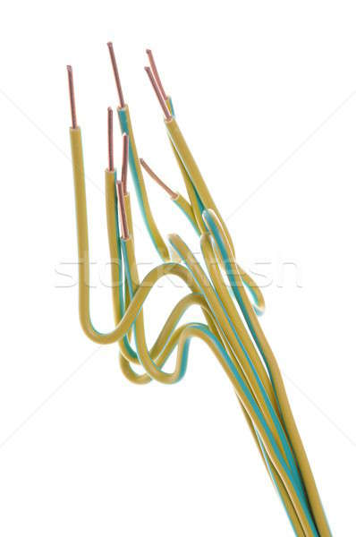 Terreno amarelo verde fios usado elétrico Foto stock © Arezzoni