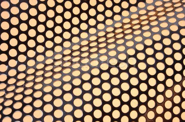 Lucido superficie metallica design sfondo piatto industriali Foto d'archivio © Arezzoni