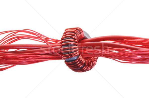 Erő fogyasztás ipar kábel vonal építkezés Stock fotó © Arezzoni