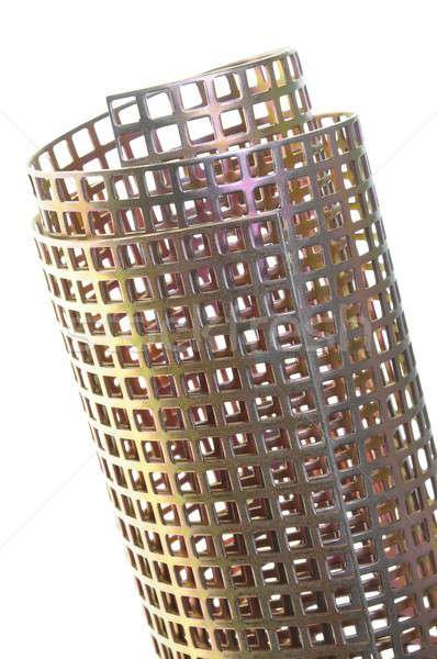 Rotolare lucido superficie metallica piazza abstract sfondo Foto d'archivio © Arezzoni