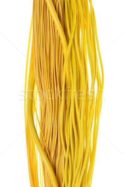 Amarillo cables resumen diseno Internet red Foto stock © Arezzoni