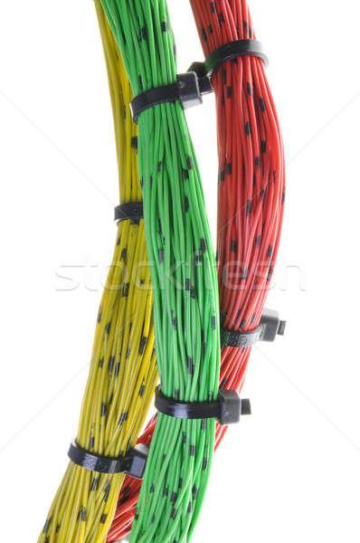 Cables cable aislado blanco negocios Internet Foto stock © Arezzoni