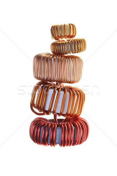 Copper coils Stock photo © Arezzoni