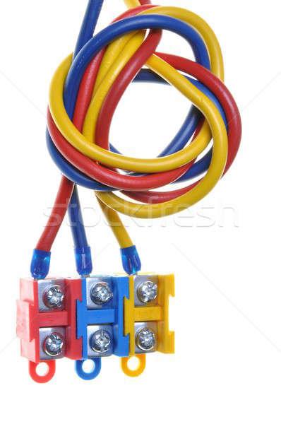 Color eléctrica cable azul herramientas energía Foto stock © Arezzoni