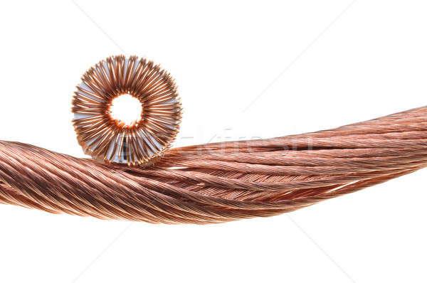 Miedź przewody pomysł elektryczne energii konsumpcja Zdjęcia stock © Arezzoni