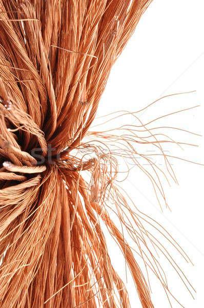 Miedź drutu pomysł rozwoju technologii ceny Zdjęcia stock © Arezzoni
