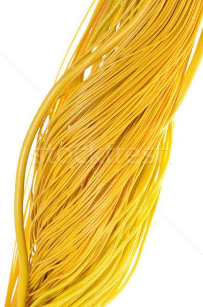 Giallo cavi abstract design internet rete Foto d'archivio © Arezzoni