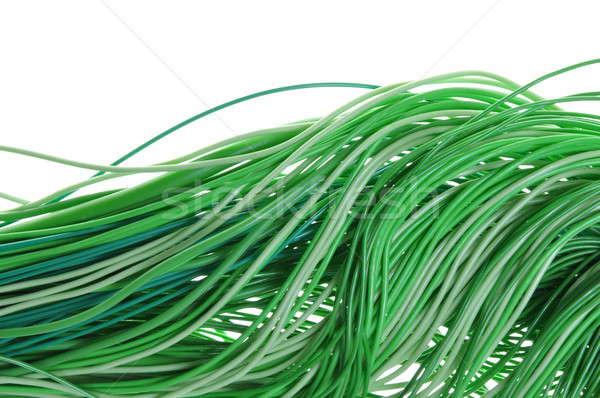 Groene energie stroom informatie kabel netwerken computer Stockfoto © Arezzoni